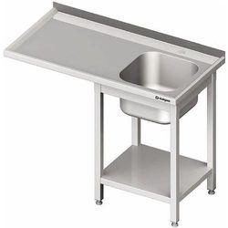 Stół ze zlewem jednokomorowym z prawej strony i miejscem na lodówkę lub zmywarkę 1900x700x900 mm | STALGAST, 980957190