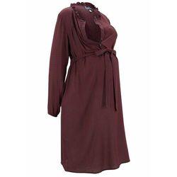 Sukienka ciążowa i do karmienia piersią bonprix ciemnoniebieski wzorzysty