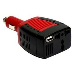 Samochodowa Przetwornica Napięcia z 12V na 230V 75/150W + Port USB 5V.