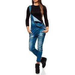 Spodnie jeansowe ogrodniczki damskie niebieskie Denley 260