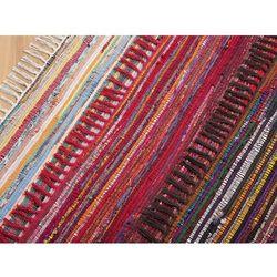 Dywan ciemnokolorowy 80x150 cm krótkowłosy - chodnik - bawełna - DANCA