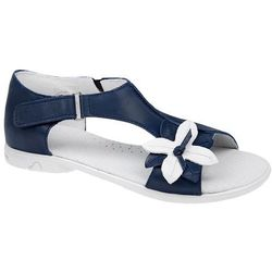 Sandałki dla dziewczynki skóra KORNECKI 3739 - Multikolor ||Kobaltowy ||Granatowy