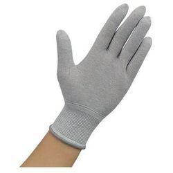 Rękawiczki ESD bez warstwy antypoślizgowej, szare, rozmiar M