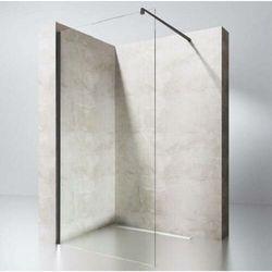 Szyba Prysznicowa Ścianka Walk-In CZARNE OKUCIA 8mm lub 10mm