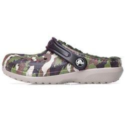 Klapki Crocs Classic Lined Graphic Clog K Green Camo 203508-359