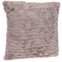 Poduszka futerkowa, poliester 45x45 cm, brązowy