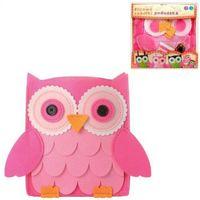 Kreatywne dla dzieci, Filcowe Robótki - Poduszka Sowa różowa STnux