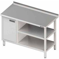 Stół przyścienny z szafką z drzwiami skrzydłowymi po lewej stronie i dwiema półkami 1700x600x850 mm | STALGAST, 980526170
