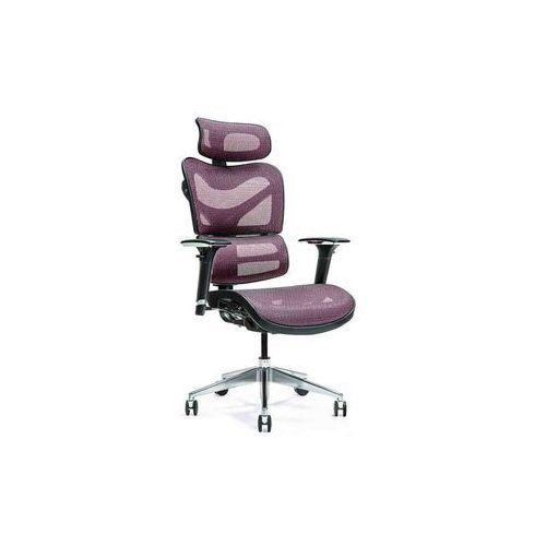 Fotele i krzesła biurowe, Ergonomiczny fotel biurowy ERGO 600 śliwkowy