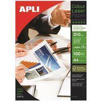 Papiery fotograficzne, Papier fotograficzny APLI Glossy Laser Paper, A4, 210gsm, błyszczący, 100ark.