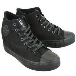 BIG STAR BB274090 czarny micro, trampki, sneakersy damskie - Czarny