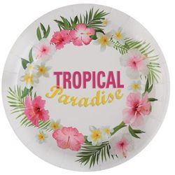 Talerzyki Hawajskie Tropical Party - 22,5 cm - 10 szt.