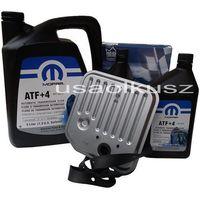 Filtry oleju do skrzyni biegów, Olej MOPAR ATF+4 6,89l oraz filtr skrzyni biegów Dodge Durango -2003