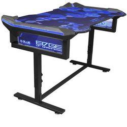 E-Blue Biurko dla gracza 135x78,5x69,5 cm, podświetlenie RGB, regulacja wysokości, z podkładką pod mysz
