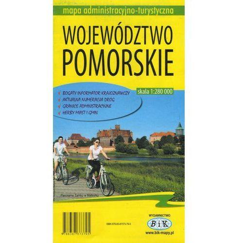 Mapy i atlasy turystyczne, Województwo pomorskieMapa administracyjno-turystyczna (opr. broszurowa)