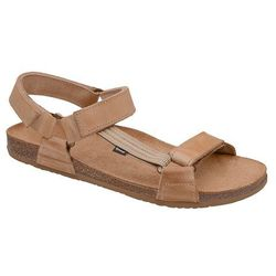 Sandały OTMĘT 415CP Beżowe Brązowe NaturForm Fussbett Jezuski - Beżowy ||Brązowy