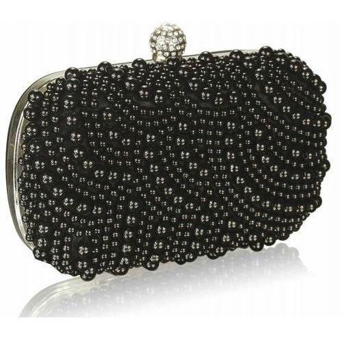 Torebki, Czarna torebka wizytowa z koralików - czarny
