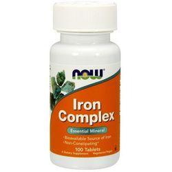 Now Foods Iron Complex - Żelazo Complex 100 tabl.
