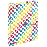 Teczki, Teczka rysunkowa gumką A4 4cm Smiley.World HERLITZ - Smiely.World Rainbow