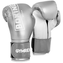 Rękawice bokserskie - 12 oz - srebrny metalik