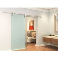 Drzwi wewnętrzne, Naścienne drzwi przesuwne CLEAVER — 205 × 73 cm (wys. × szer.) — szkło hartowane