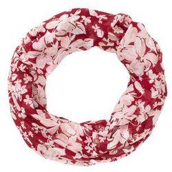 """Szal koło """"Kwiaty"""" bonprix czerwonobrązowo-bladoróżowo-czerwony wiśniowy"""