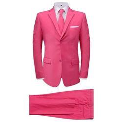 2-częściowy garnitur męski z krawatem różowy rozmiar 48