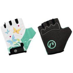 Rękawiczki dziecięce Accent Daisy biało-zielone S/M