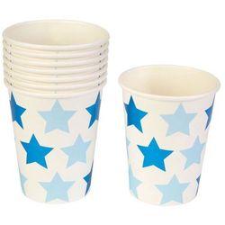 Kubeczki papierowe Gwiazdki niebieskie - 220 ml - 8 szt.