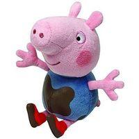 Pluszaki bajkowe, TY Beanie Babies Świnka Peppa - ubłocony George, 15 cm
