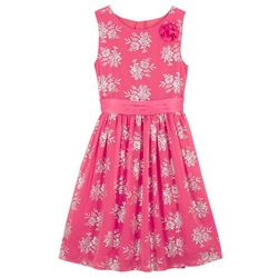 Sukienka dziewczęca na uroczyste okazje bonprix różowo-srebrny z nadrukiem