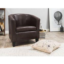 Fotel skóra ekologiczna brązowy BORWICK