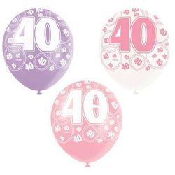 Balony lateksowe z nadrukiem 40 - mix - 30 cm - 6 szt.