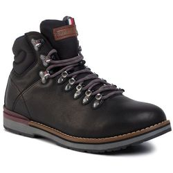 Trzewiki TOMMY HILFIGER - Outdoor Hiking Lace Leather Boot FM0FM02416 Black 990