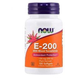 NOW Foods Witamina E-200 - Naturalne (mieszane tokoferole) - 100 kapsułek
