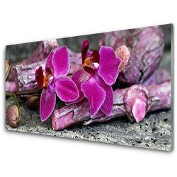 Panel Szklany Drewno Kwiaty Roślina Natura