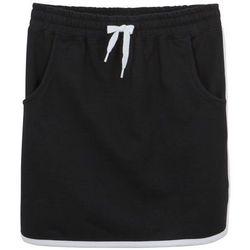 Spódnica dresowa dziewczęca bonprix czarny