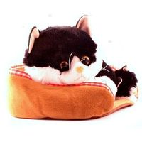 Pluszaki zwierzątka, Kot z głosem 34 cm czarny