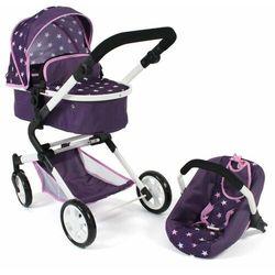 Bayer Chic wózek dla lalek LIA z fotelikiem samochodowym fioletowe gwiazdki