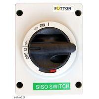 Baterie słoneczne, Rozłącznik izolacyjny - wyłącznik FOTTON SISO 32A 600V DC w obudowie IP66