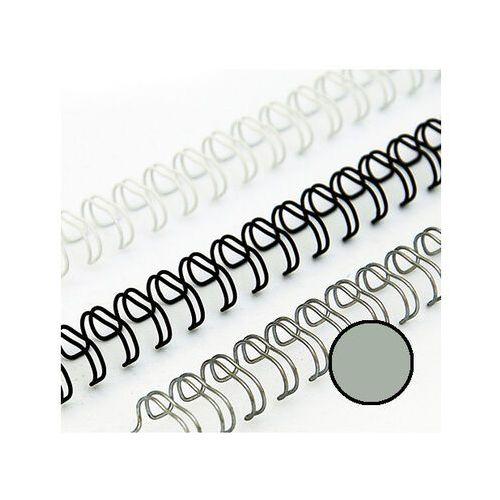 Grzbiety do bindownic, Grzbiety drutowe 8 mm, oprawa do 55 kartek, srebrne