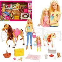 Pozostałe zabawki, BARBIE Stadnina koni zestaw + lalki FXH15