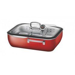 Silit - brytfanna z wkładem do gotowania na parze Ecompact Energy Red - czerwony