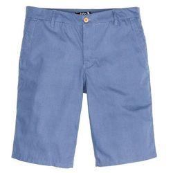 Bermudy w delikatny deseń Regular Fit bonprix niebieski dżins - ciemnoniebieski