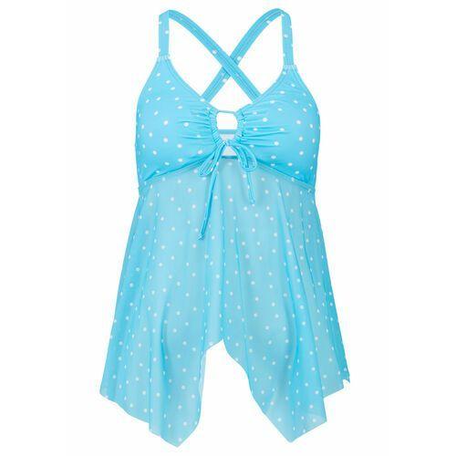 Stroje kąpielowe, Bikini z ramiączkami wiązanymi na szyi (2 części) bonprix jasnoróżowy z nadrukiem