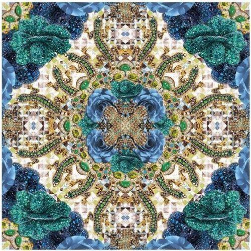 Pozostałe artykuły szkolne, Karnet kwadrat z kopertą Blue Precious Rose