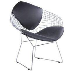 Fotel VOLIER ARM chrom - czarna poduszka