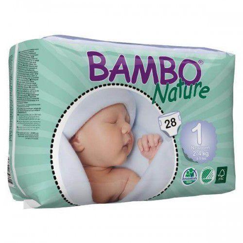 Pieluchy jednorazowe, Eko Pieluszki Jednorazowe Newborn 2-4 kg (28szt.), Bambo Nature, ABENA