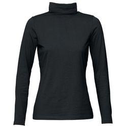 Shirt ze stretchem i golfem, długi rękaw bonprix czarny