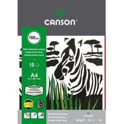 Blok techniczny Canson A4/10k. 160g. czarny